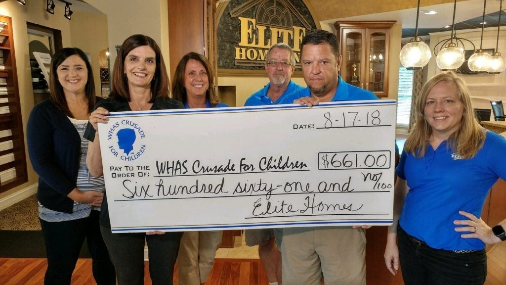 Elite Homes proudly supports the WHAS Crusade for Children