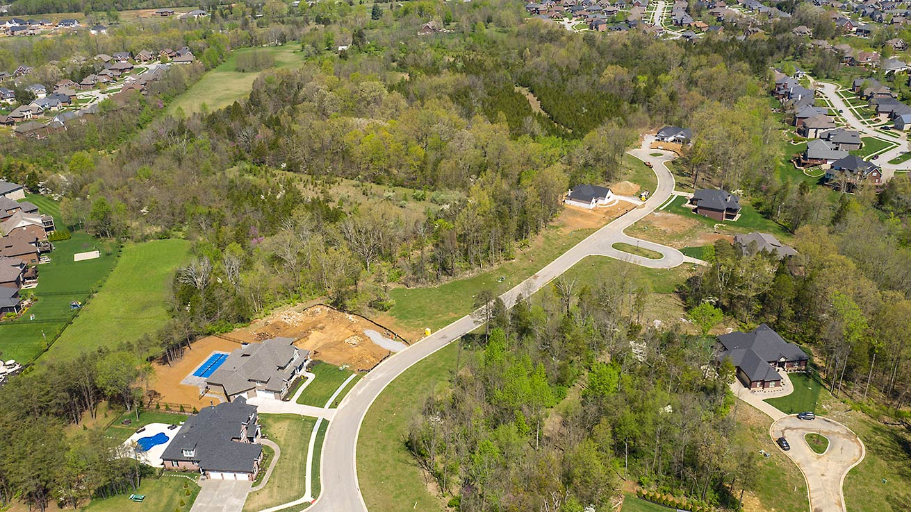 Stone Lakes Estates New Home Construction on Taylorsville Road
