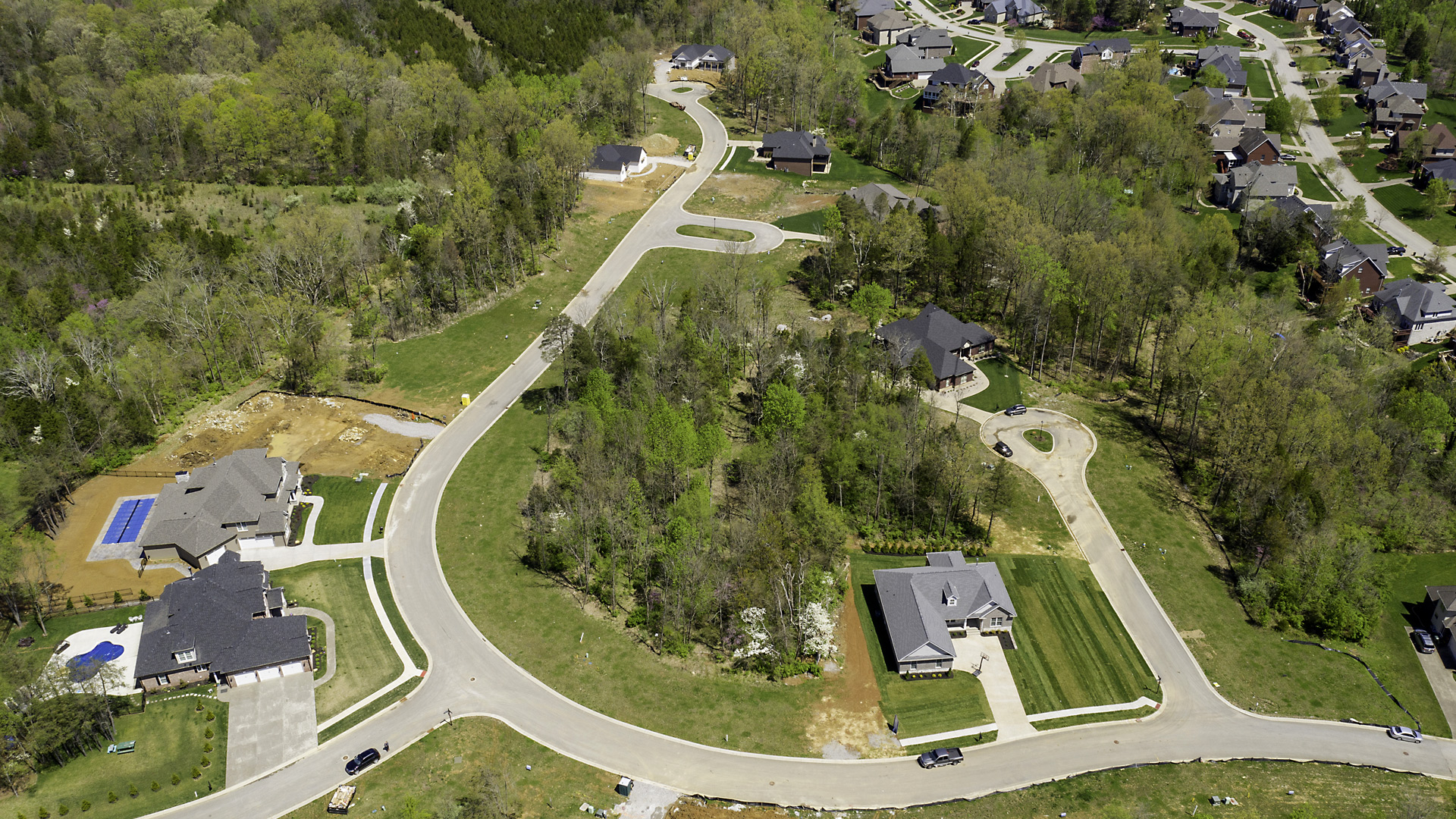 Stone Lakes Aerial View of Estate Section